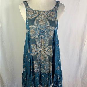 Free People | Boho Paisley Swing Dress
